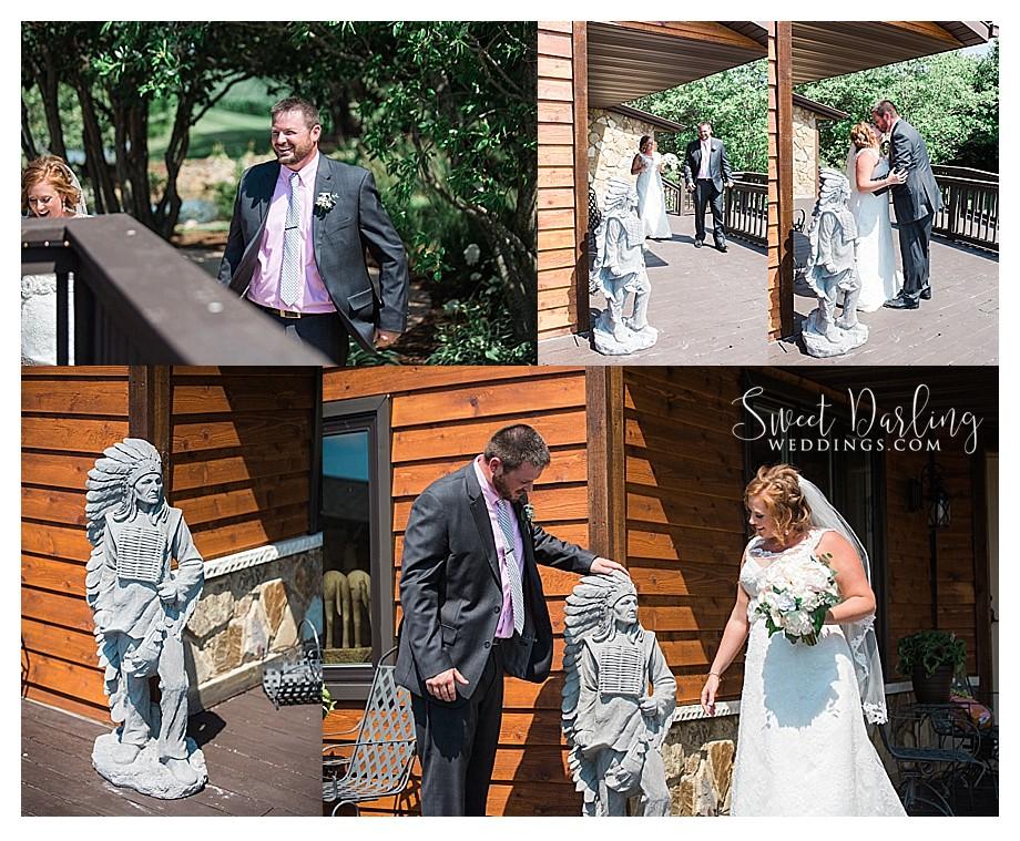 Bride's gift to groom Chief Illiniwek Fighting Illini statue