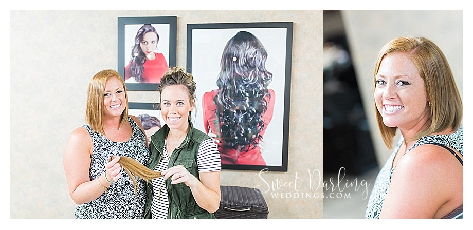 BJ Grand Salon hairstylist and bride