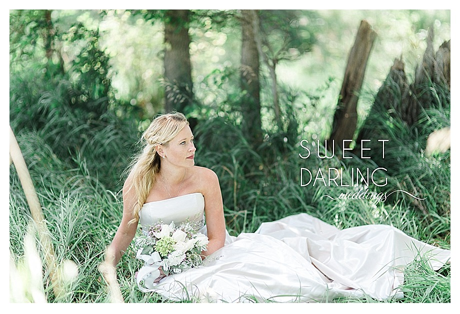 country bride in white strapless gown white roses succulents
