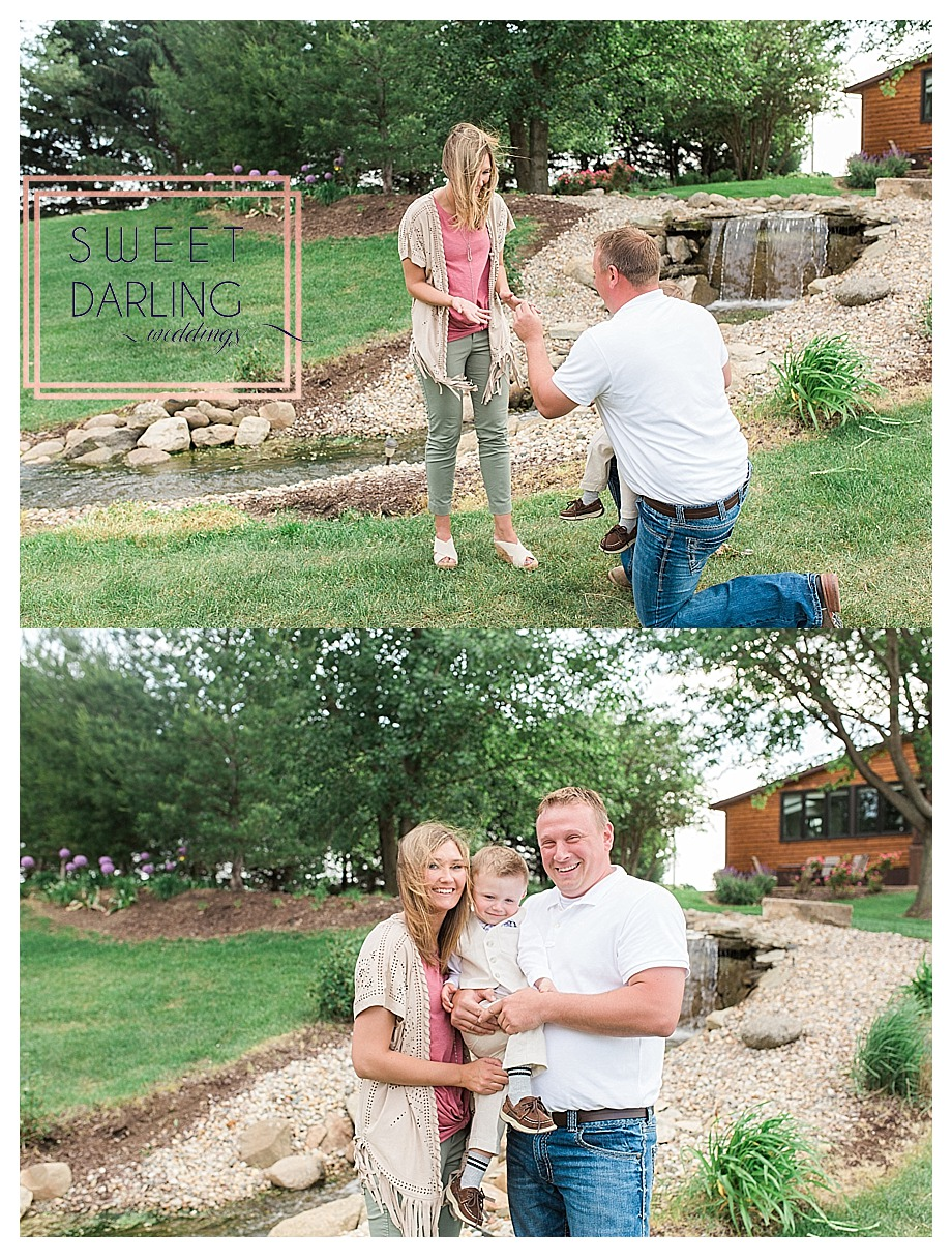 surprise proposal at styled shoot