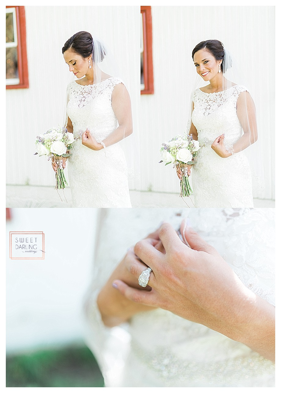 a beautiful wedding ring and florals