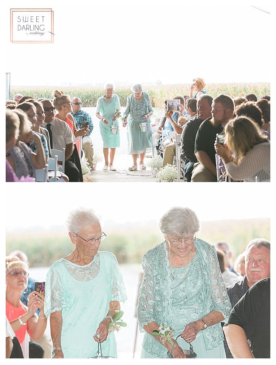 grandmas were the flower girls