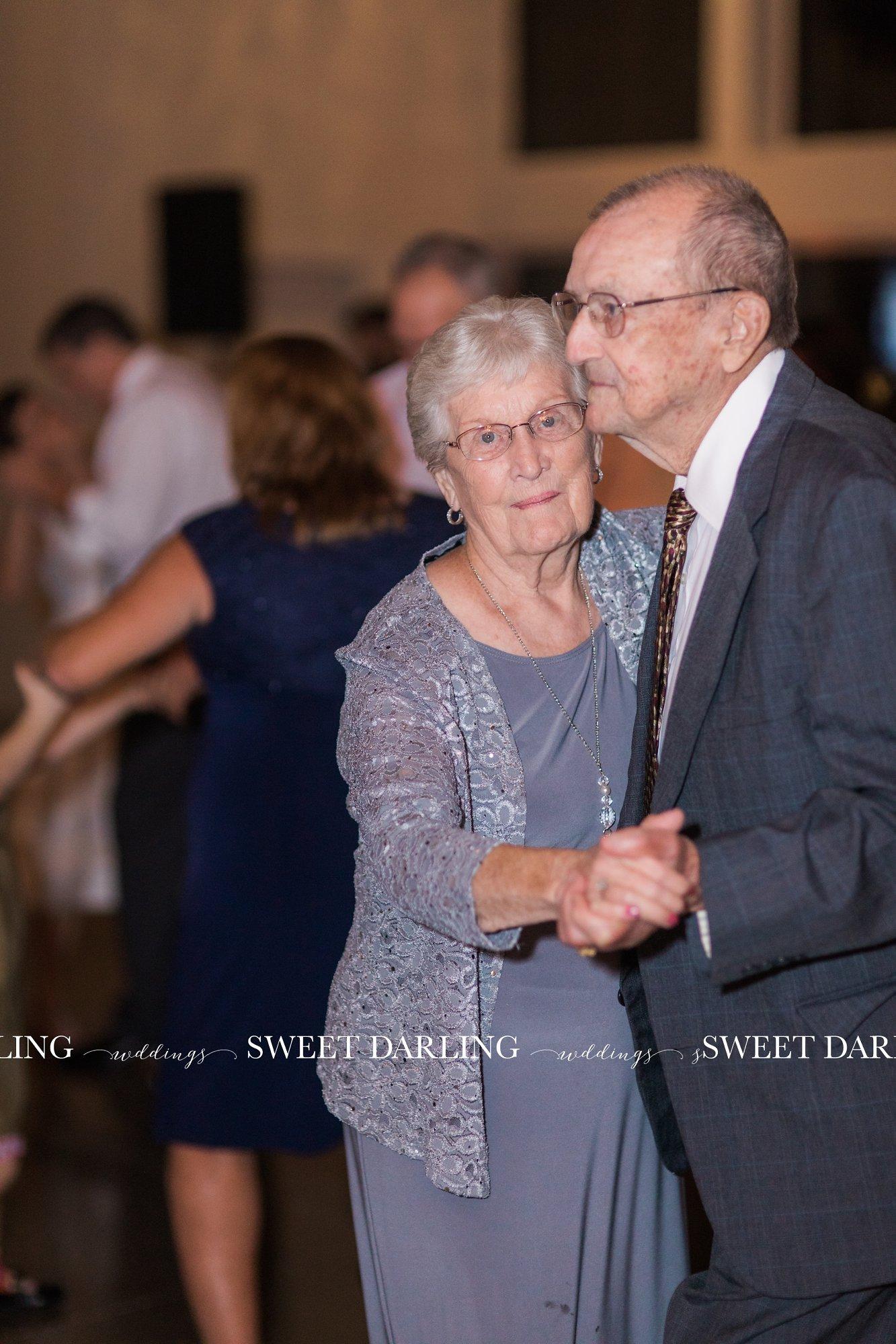 Sweet couple dancing at wedding reception