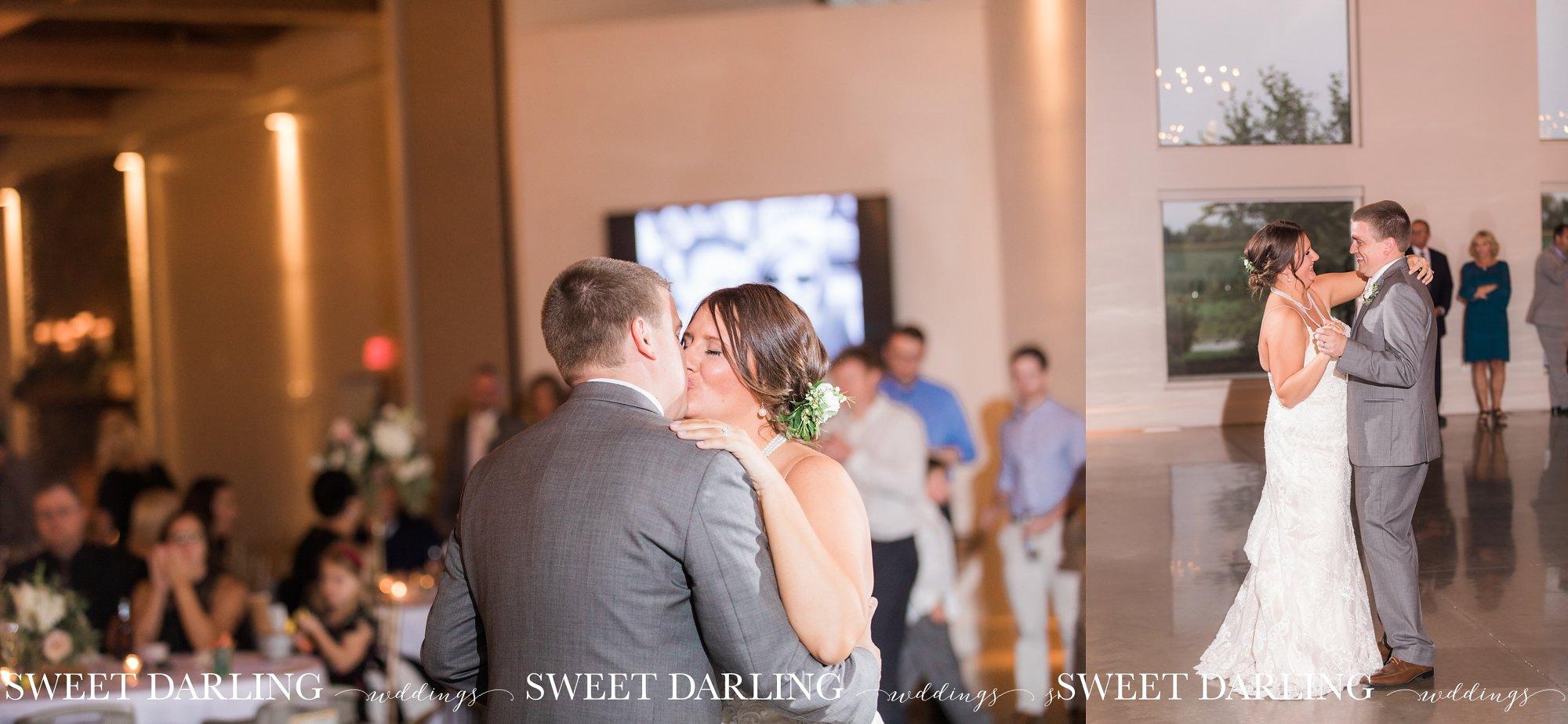 Wedding couple dance at central Illinois wedding reception