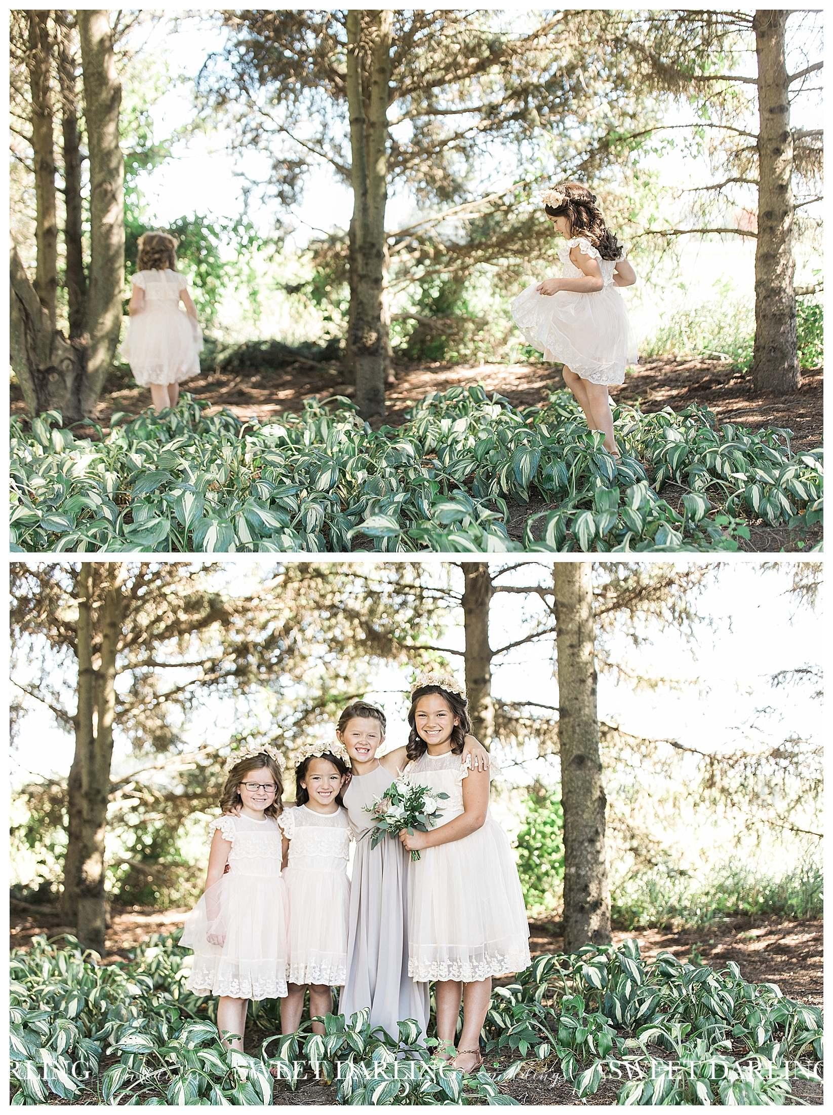 Flower girls in hosta at Pear Tree Estate