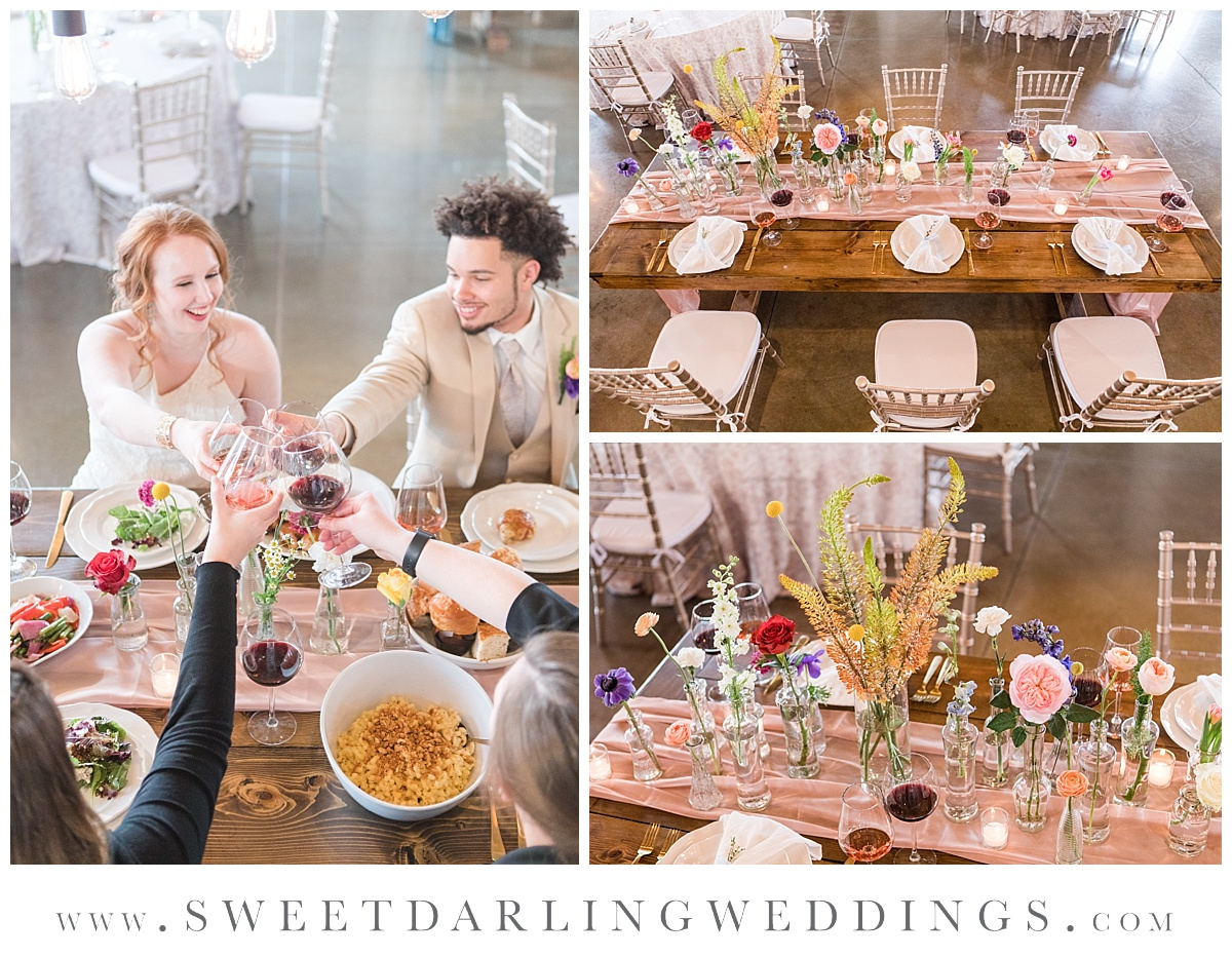 Boho inspired wedding table settings at Pear Tree Estate