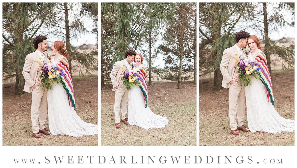 Boho and wildflower inspired wedding styled shoot at Pear Tree Estate, Champaign, IL