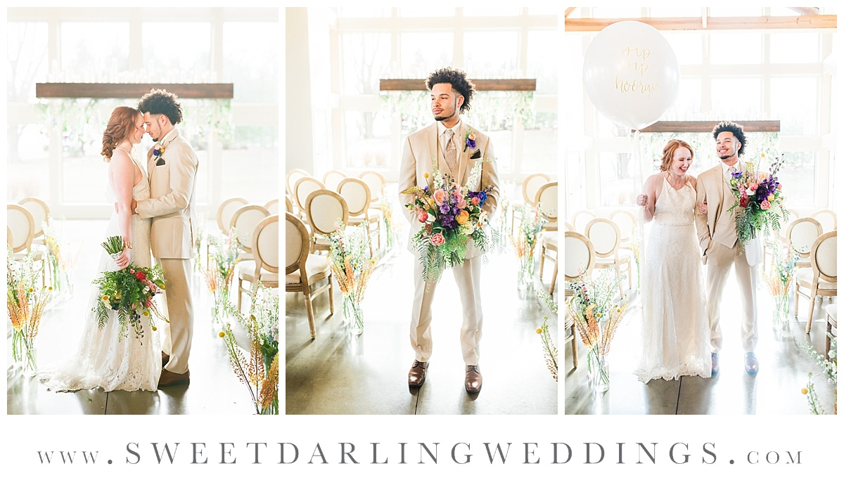 Boho styled wedding at Pear Tree Estate in Champaign, IL
