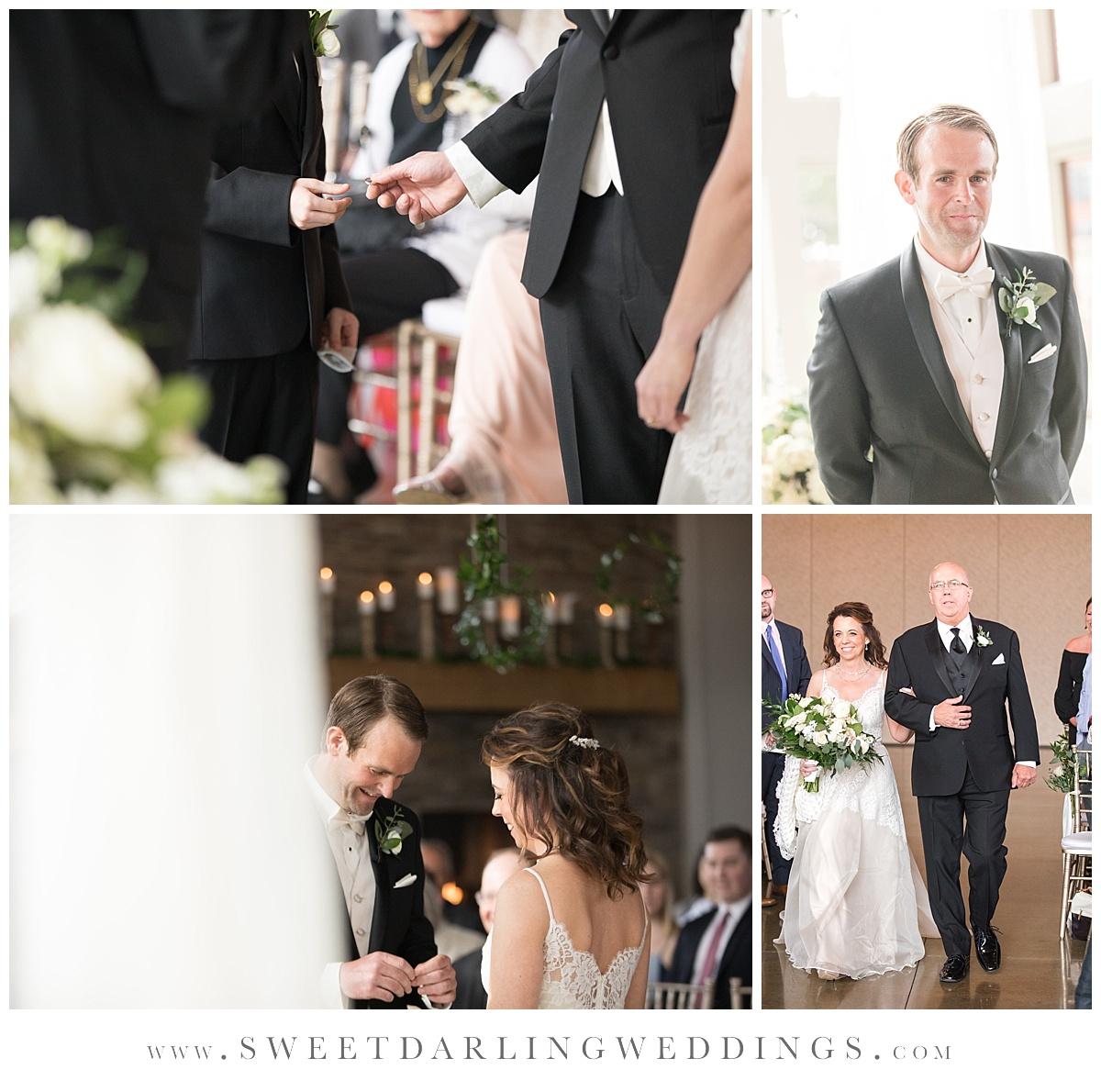 Pear Tree Estate indoor wedding ceremony