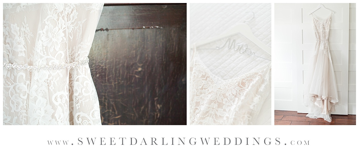 Wedding dress for spring wedding at pear tree estate