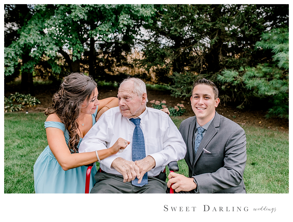 Such a sweet moment between our groom Thomas, his grandpa and groomsgal Ginny