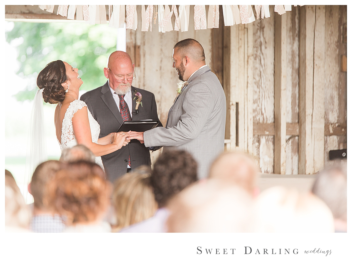 We LOVE when there is a moment of pure laughter during the wedding ceremony.