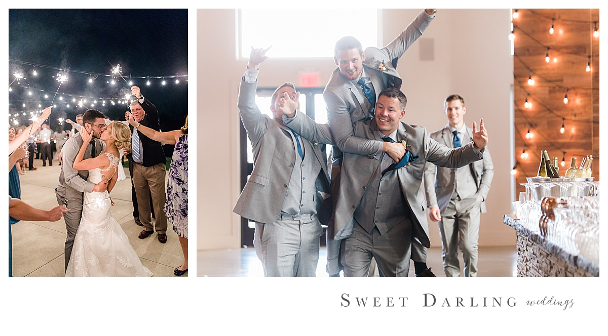 Sparkler celebration - we've got you covered!  Crazy friends celebrating your big day, yep, we cover that too!