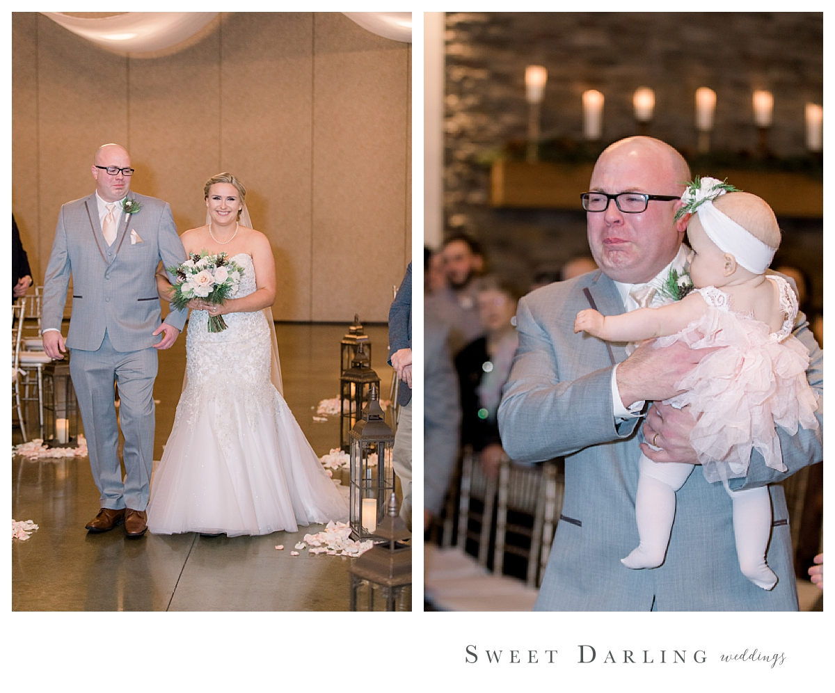 Morgan will always cherish these pictures of her dad walking her down the aisle - as will her daughters.