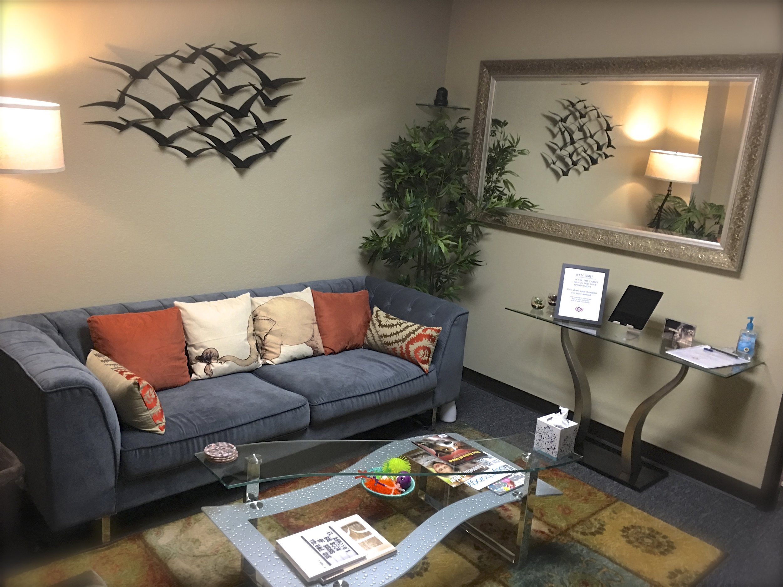 The FCS reception area is the perfect place to catch your breath.
