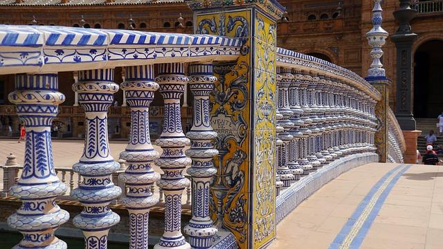 Architecture Plaza España Sevilla Ceramic