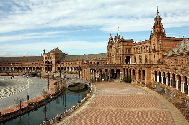 Landmark Spain Europe Seville Plaza De España