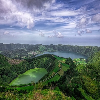 Portugal Nature Landscape Azores Setecitades