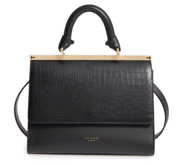 Ted Baker Croc Embossed Handbag