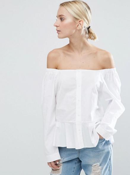 ASOS Off Shoulder Cotton Top