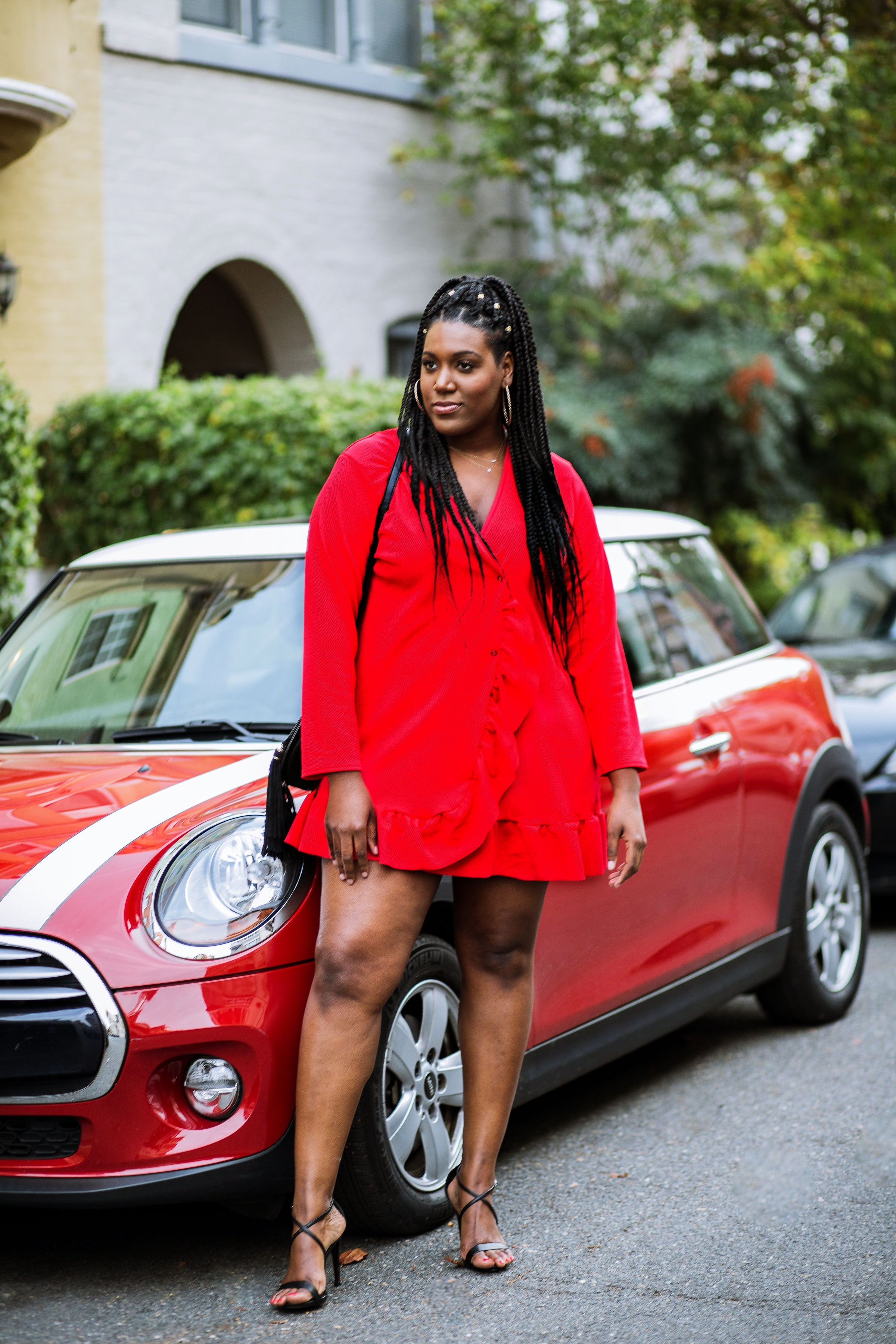 Charmant Style Red Holiday Dress