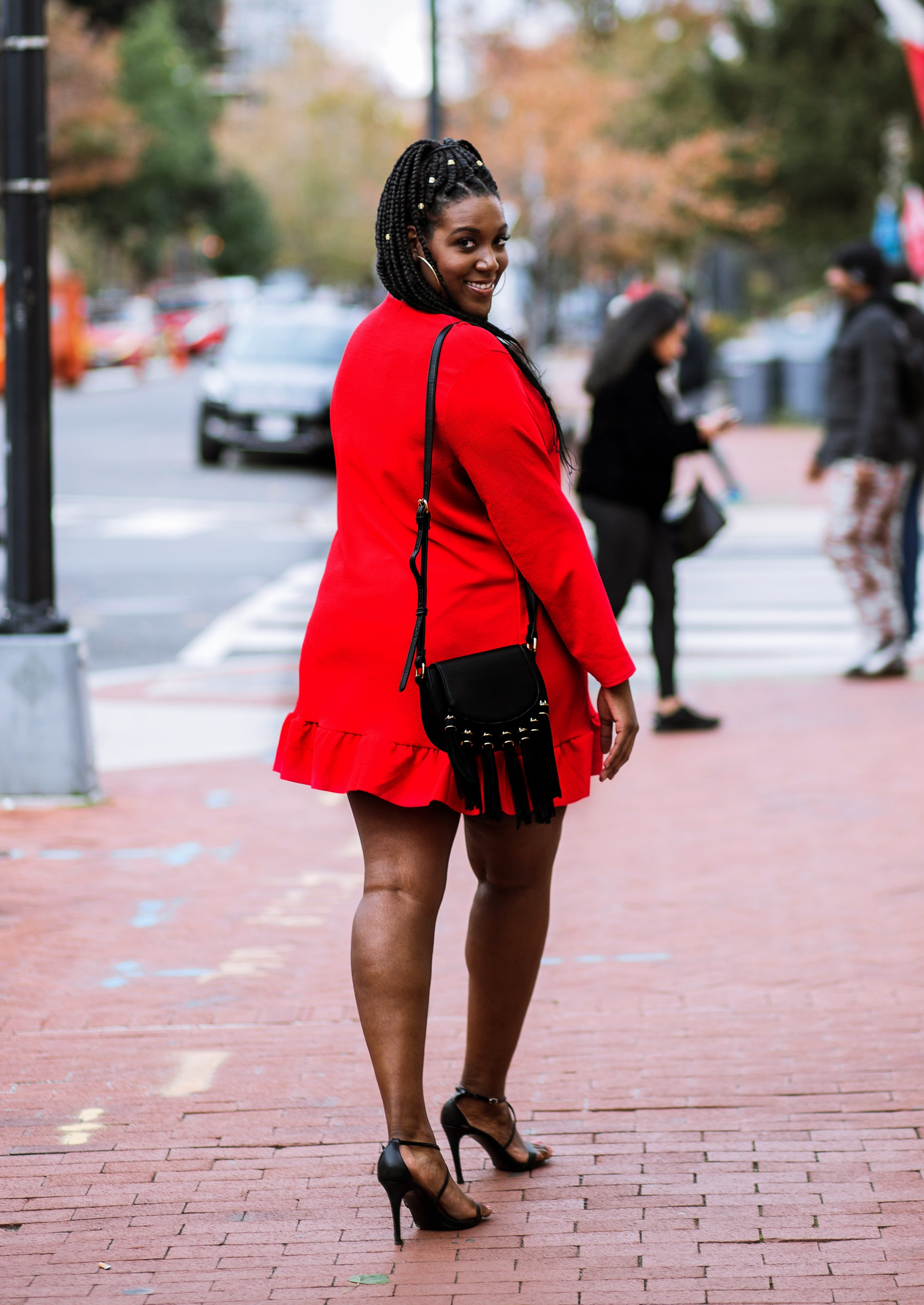 Charmant Style Red Holiday Look