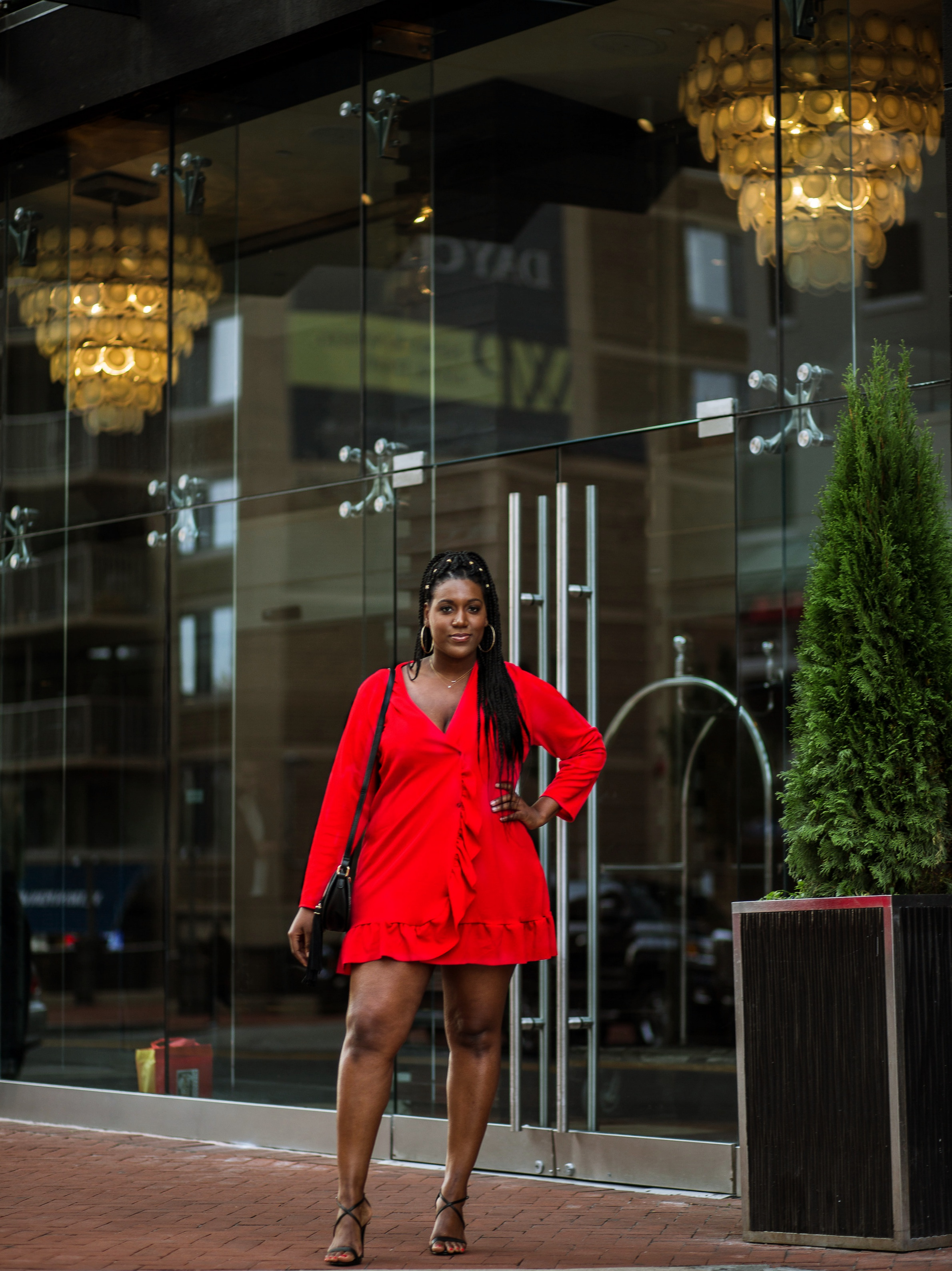 Red Holiday Dress Charmant Style