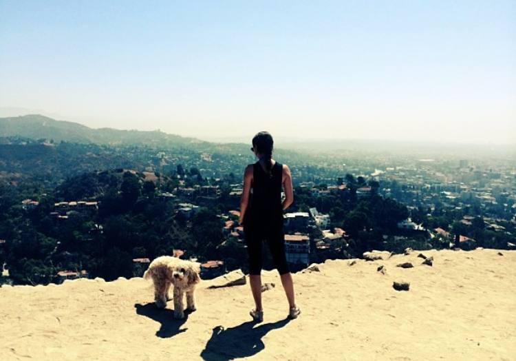 That time I hiked with my sister in Los Angeles, CA. -