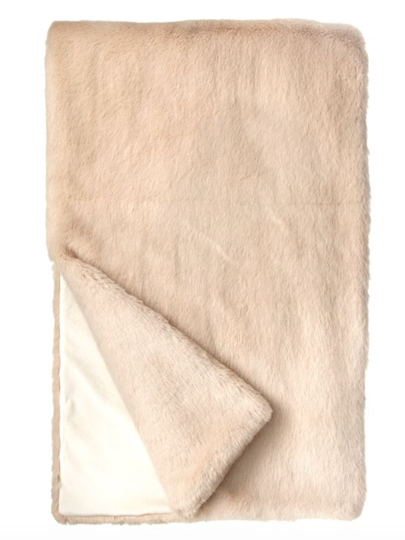 Best Faux Fur Throw: Blush Mink by Donna Salyers