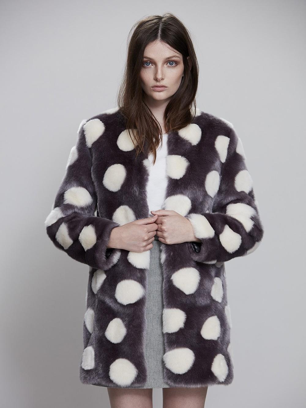 Best Faux Fur Coat:  Bubbles Coat by Unreal Fur