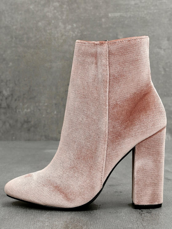 Best Vegan Women's Shoe:  Faux Velvet Rooney Bootie by Lulu's
