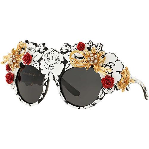 Multicolor Round Sunglasses by DOLCE & GABBANA at  SUNGLASSSHUT.COM                                     £2,405