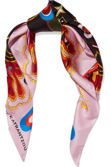 Silk-Twill Scarf - £75