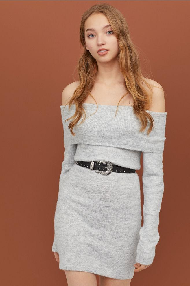 Off-the-shoulder Dress - £12.50