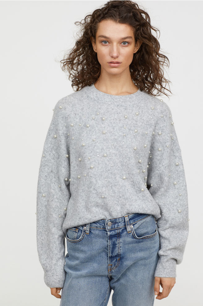 Bead-embroidered Jumper - £20
