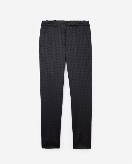 Velvet Trousers with polka-dots - £99