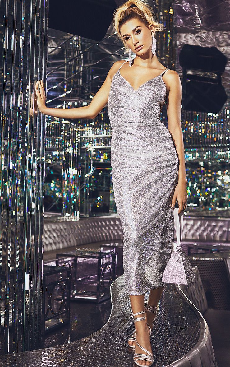 Silver Sequin Dress - £32