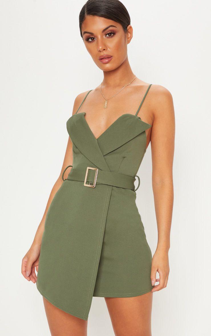 Kaki Bodycon Dress - £13