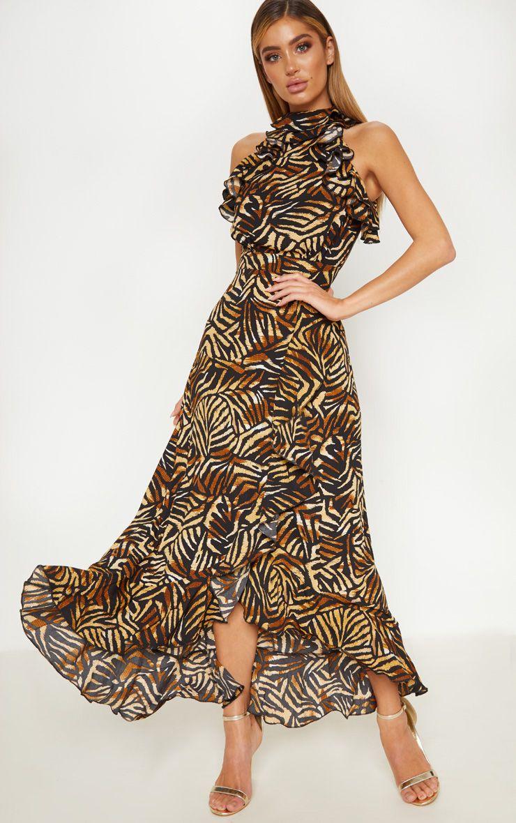 Tiger Maxi Dress - £18
