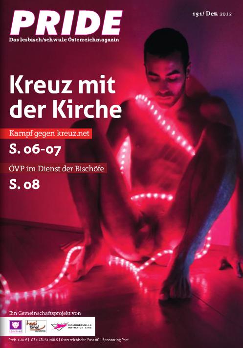 Cover for Pride Magazine.  issue 131 Dec. 2012. Austria.  http://www.pride.at/ausgabe/nr-131dez-2012/