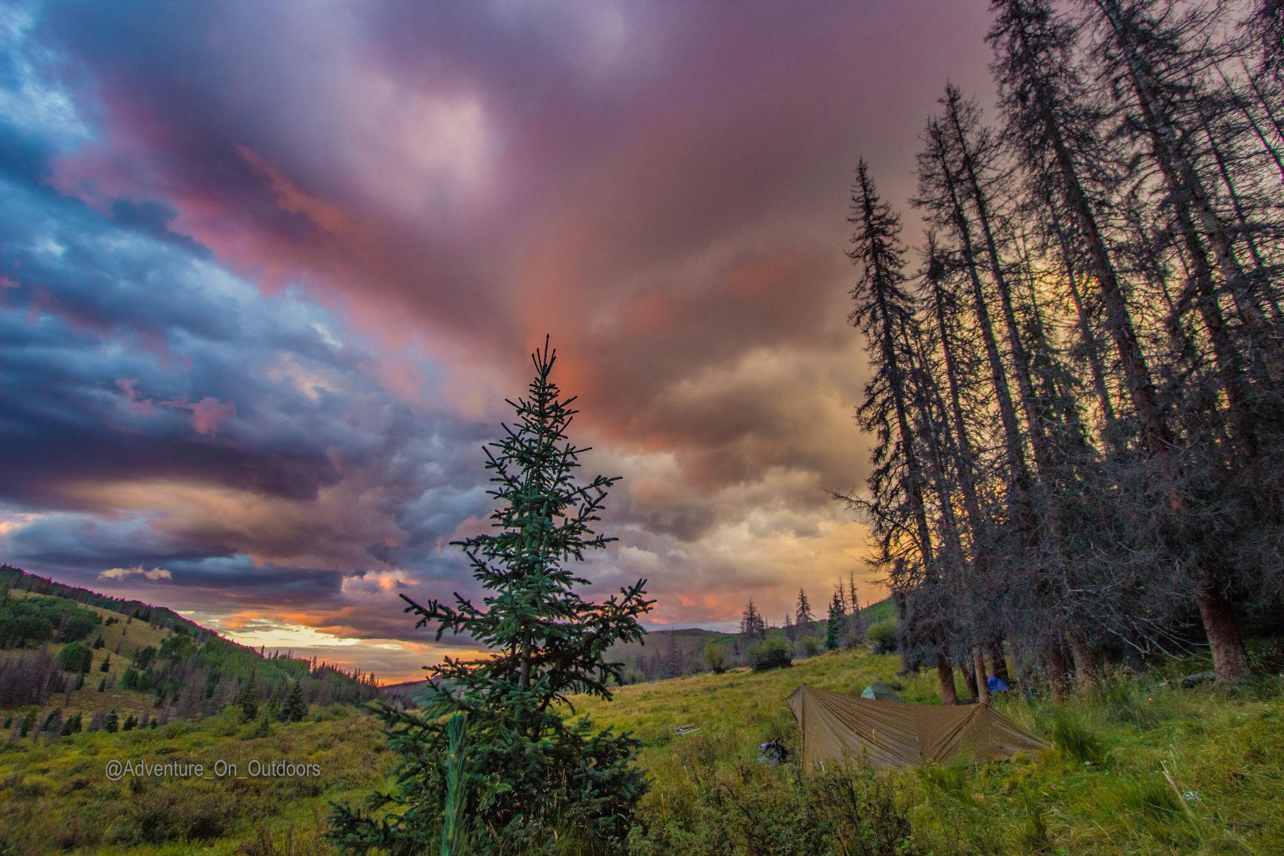 Bivy tarp sun set Elk Camp.jpg