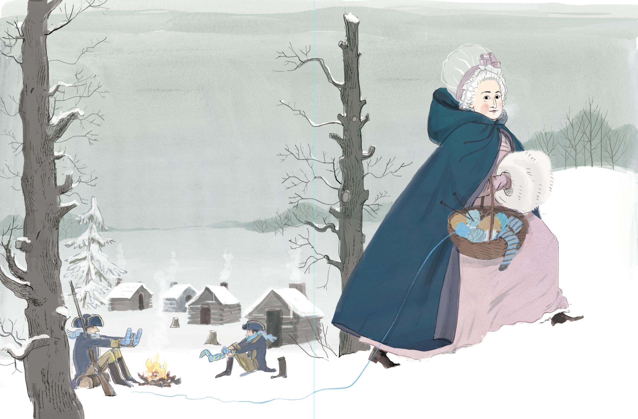 Martha Washington at Valley Forge
