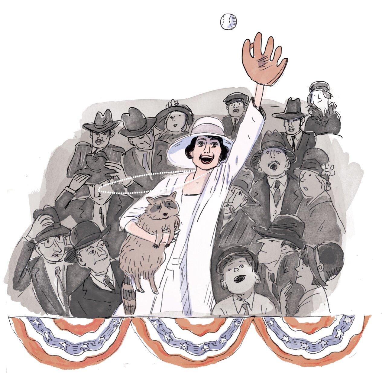 Mrs. Coolidge, baseball fan..