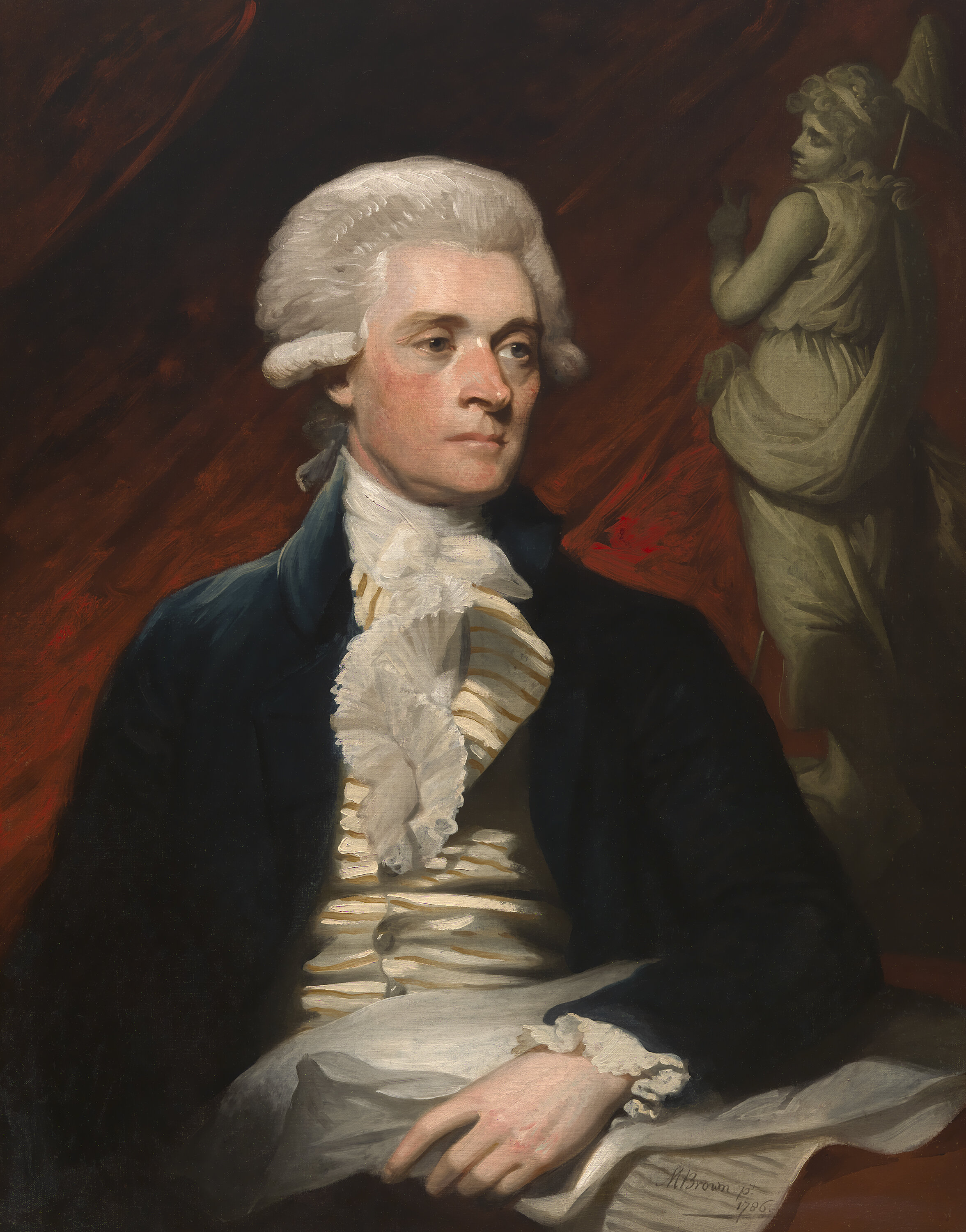 1786 Portrait of Thomas Jefferson by Mather Brown