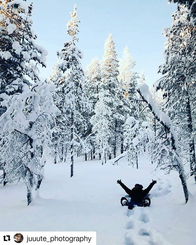 Have you ever tried snowshoeing? It's so much more fun than you think 😉 #Repost @juuute_photography (@get_repost) ・・・ I am falling in love with winter! Aaah... I can't believe I am saying this! 😅❄️🎄 #finland #winterfashion #winter #snow #snowshoeing #cold #timetravelsclub #love #lifestyle #photooftheday #northfinland #north  #travel #love #photography #photooftheday #photography #fun #sport #active #instacool #instagood #travelphotography #aroundtheworld #girl #dreamcometrue #trees #nature #naturephotography
