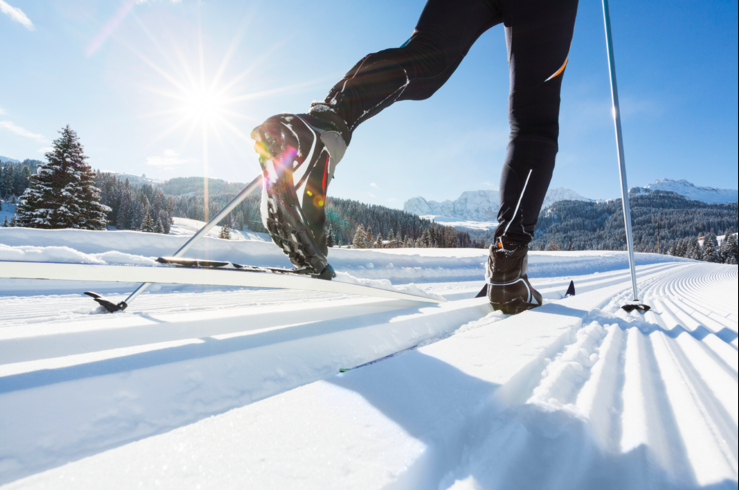 Cross-country ski, Ski school for beginners