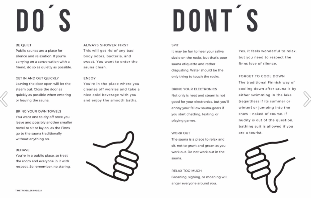 Sauna etiquette_What to do in sauna and what not to do