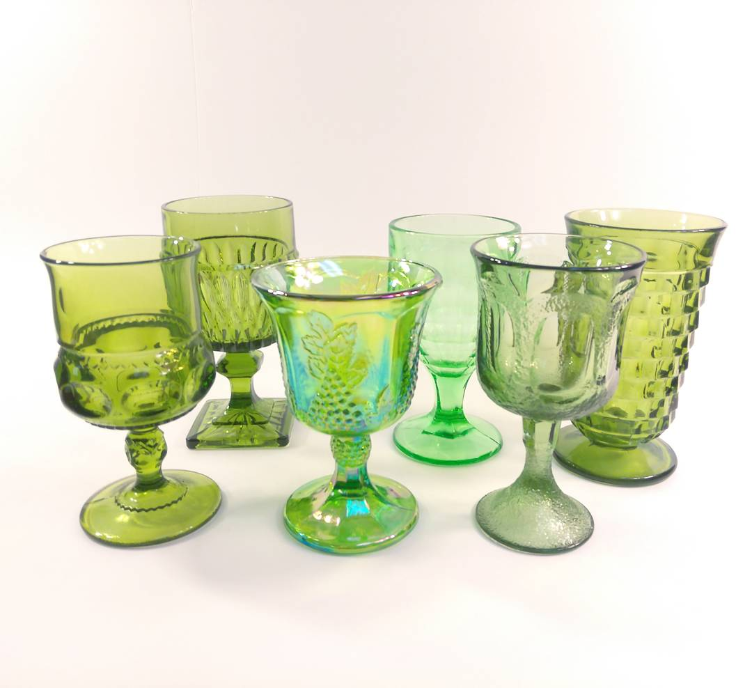 Green goblets - Qty 92