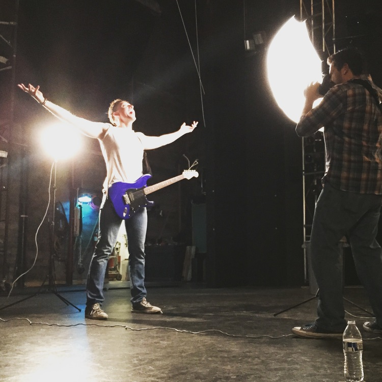 On location shooting for  Seattle Musical Theatre .