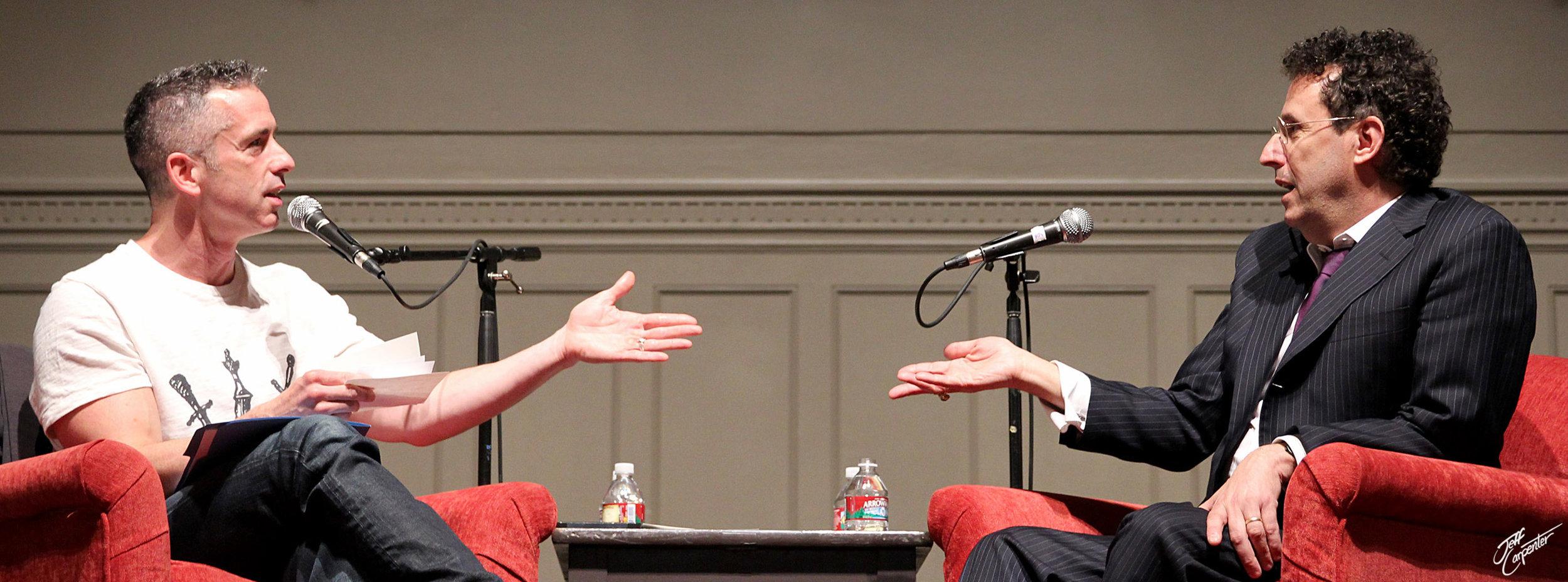 Dan Savage and playwright Tony Kushner in conversation, 2014